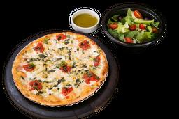 Pizza (indv.) + Salada