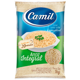 Arroz Integral Camil Tipo 1 Pacote 1kg