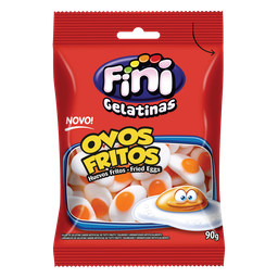 Bala de Gelatina Fini Ovos Fritos 90g
