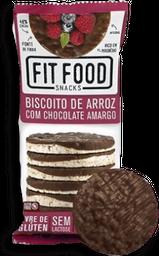 Biscoito Arroz Chocolate Amargo Fit Food 70 g