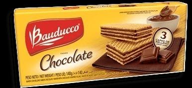 Biscoito Bauducco Wafer De Chocolate 140 g