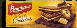 Biscoito Bauducco Wafer Triplo Chocolate Pacote 140g