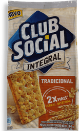 Biscoito Club Social Integral Tradicional Pacote 144g