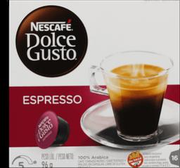 Cápsulas Espresso Nescafé Dolce Gusto 96 g
