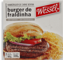 Hambúrguer Bovino Wessel de Fraldinha Caixa 330g