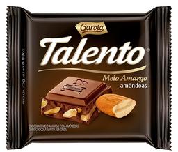 Chocolate Garoto Talento Meio Amargo 25 g