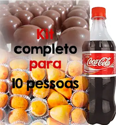 Kit 100 Salgados com Bebida e Sobremesa