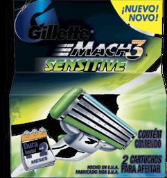 Carga P/Aparelho Mach3 Sensitive Com 2