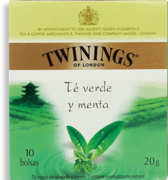 Chá Twinings Verde E Hortelã 20g 10Un