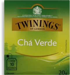 Cha Twinings Pure Verde 20G 10Un