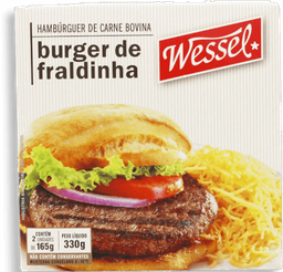Hambúrguer  Bov Fraldinha Wessel Com 2 360g