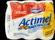Leite Fermentado Actimel Morango 600g