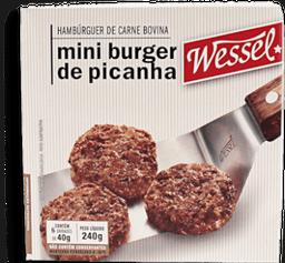 Hambúrguer  Bov Mini Picanha Wessel 240g