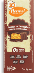 Paçoca  Castanha Com Choco Zero Flormel 66G