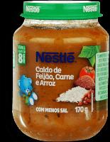 Papinha Infantil Carne Com Arroz & Feijão Nestle 170g