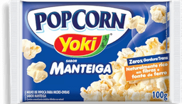Pipoca Pop Corn Manteiga Yoki 100g