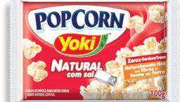 Pipoca Pop Corn Com Sal Natu Yoki 100g