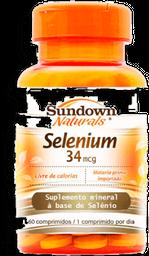 Capsula Selenio Sundown 34 Mcg C/60