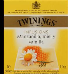 Chá Twinings Camo.Mel E Baunilha 15g 10Un
