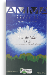 Chocolate Orgânico Flor Do Mar 75% Amma Chocolates 80g