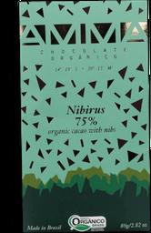 Chocolate Orgânico Nibirus 75% Amma Chocolates 80g