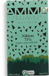 Chocolate Orgânico Nibirus 75% Amma Chocolates 80g