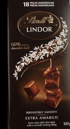 Chocolate Sui Lindor Dark 60% Lindt 100g