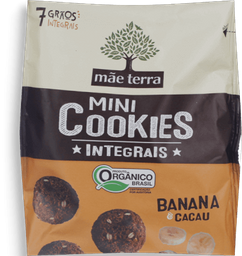 Cookies Integ Orgânico Banana/Cacau Mãe Terra  120g