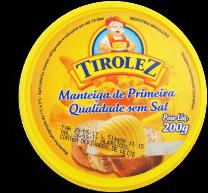 Manteiga Sem Sal Tirolez Pt 200g