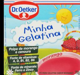Gelatina Minha Gelatina Morango Oetker 75g
