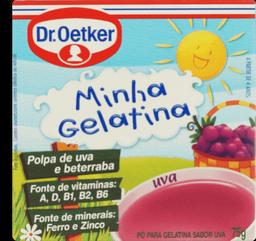 Gelatina Minha Gelatina Uva Oetker 75g