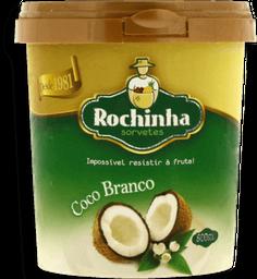 Sorvete Coco Branco Zero Açúcar Rochinha 500 Ml