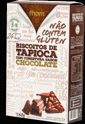 Biscoito De Tapioca Com Chocolate Fhom 60g
