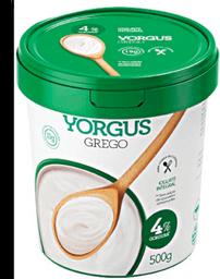 Iogurte Grego Integral 4% Yorgus 500g