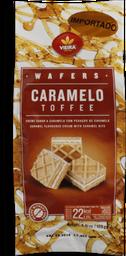 Biscoito Cubos De Wafer Caramelo Vieira 125g