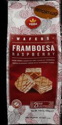 Biscoito Cubos De Wafer Framboesa Vieira 125g