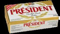 Manteiga Sem Sal President Tb 200g