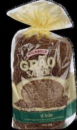Pão Grão Sabor Redondo 18Grãos Wickbold 500g