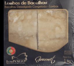 Lombo De Bacalhau Gourmet Bom Porto 1Kg