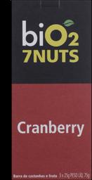 Barra Castanhas E Cranberry 7 Nuts Bio2 C/3 Un