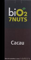 Barra De Castanhas E Cacau 7 Nuts Bio2 C/3 Un
