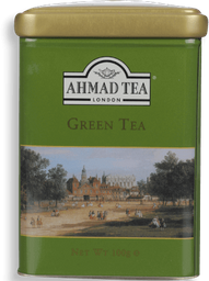 Cha Green Tea Lata Decorada Ahmad 100G