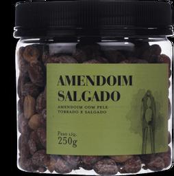 Amendoim Com Pele Torrado E Salgado 250G