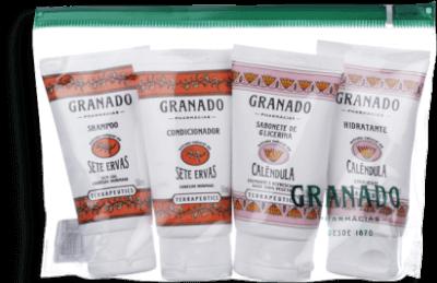 Kit Amenities Ervas/Calendula Granado 4X50ml