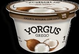 Iogurte Grego Integral Coco Yorgus 130g G