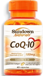Capsula Coenzima Coq10 Sundown 100Mg C/40