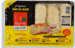 Pão De Alho Tradicional Santa Massa 400g