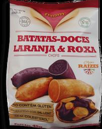Snack Batatas Doce Laranja E Roxa Fhom 45g