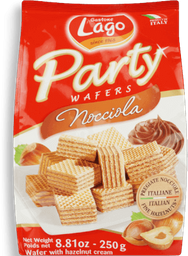 Mini Wafers Italiana  Party Avelã Gastone Lago 250g