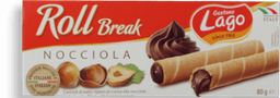 Roll Wafer Italiana  Avelã Gastone Lago 80g